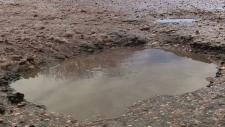 Saskatoon pothole