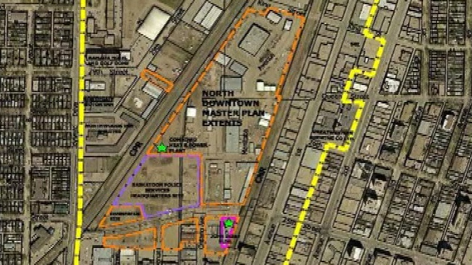 The proposed residential development depends upon the relocation of the city yards from the current site.