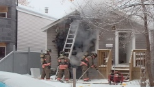 A house fire Sunday morning in Saskatoon resulted