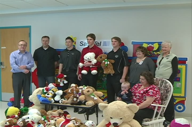 Prince Albert Raiders with Teddy Bears