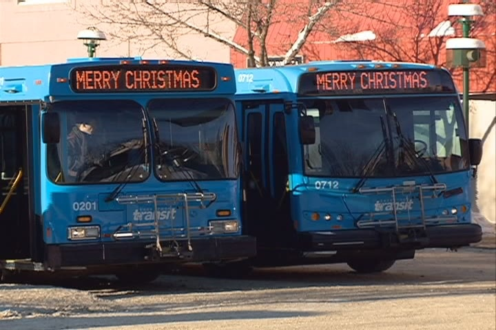 "The scrolling ""Merry Christmas"" messages displayed on Saskatoon's buses will remain after the city decided it will not take further action."