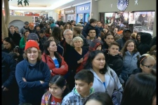 Hundreds gathered at The Centre mall Thursday