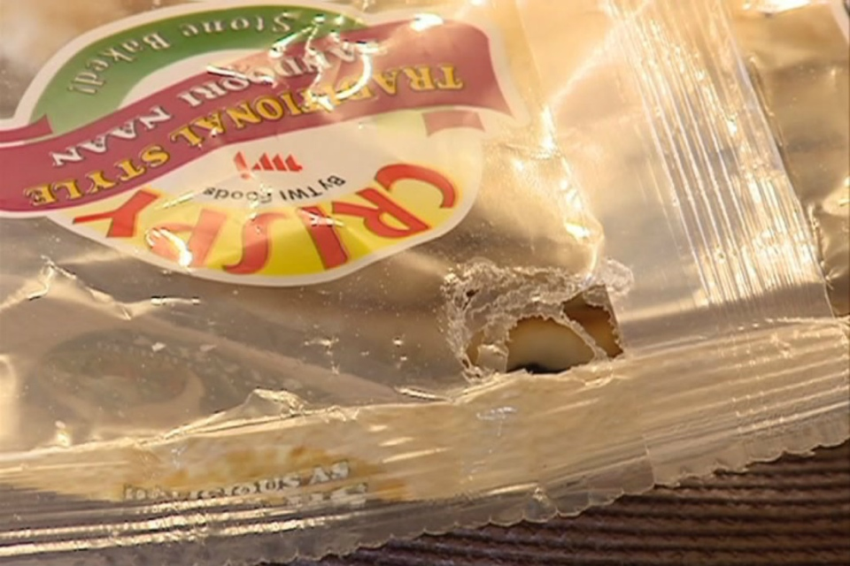 A Saskatoon man said when he came home with a loaf of naan bread, he found a live mouse inside.