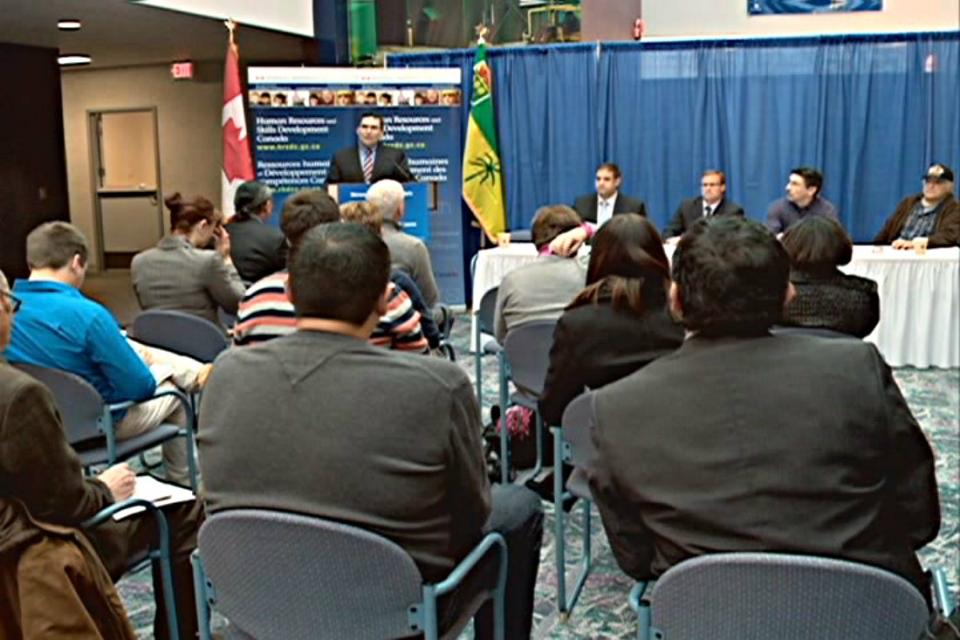 The federal and provincial government announced a new $10 project to help Aboriginal people find long-term employment.