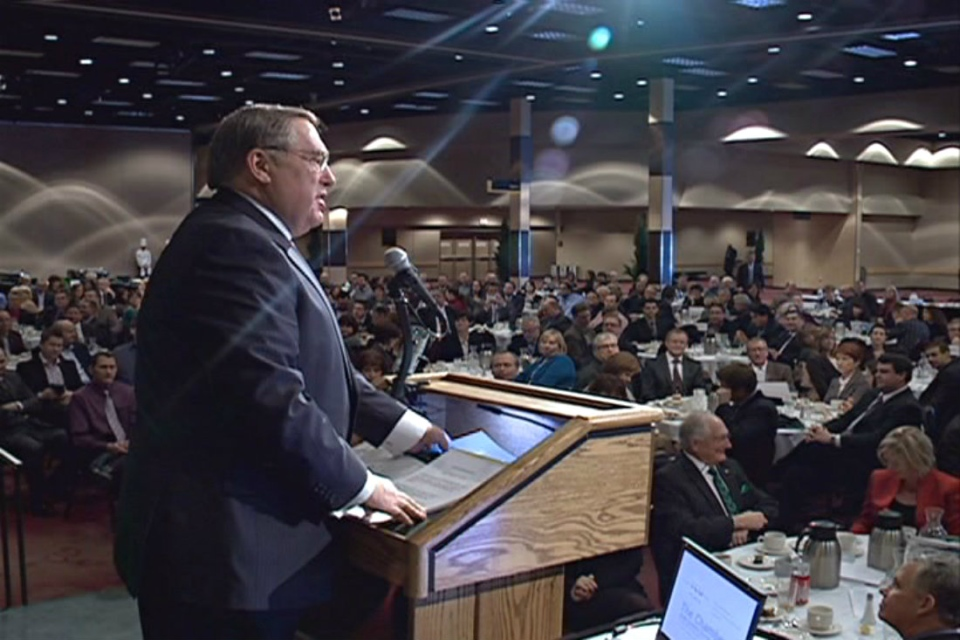 Mayor Don Atchison gave his state of the city address Wednesday.