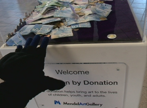 Mendel Art Gallery donation box