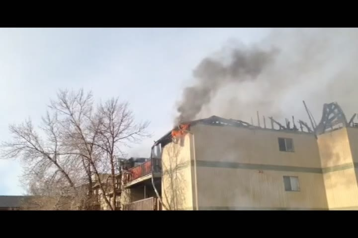 Saskatoon firefighters were on the scene of an apartment fire near Eighth Street and McKercher Drive Thursday morning.