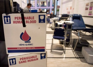 Blood is collected at a Montreal clinic in this 2012 photo. (Ryan Remiorz / THE CANADIAN PRESS)