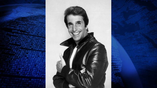 "FILE-This file photo from 1984 shows Henry Winkler as ""The Fonz"" in the show ""Happy Days."""