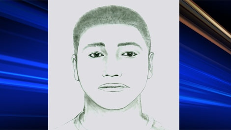 Composite sketch of Calvin Keegan Dillon, released by Saskatoon police after the July assault.