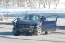 A vehicle sits on the Idylwyld freeway after a fatal crash March 1, 2014.