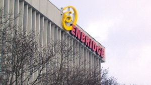 The Enbridge logo is pictured in this undated photo.