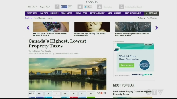 Cities With Highest Property Taxes In Canada
