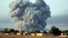 Thick smoke rises following an airstrike by the U.S.-led coalition in Kobani, Syria, on Oct. 13, 2014. (AP / Lefteris Pitarakis)
