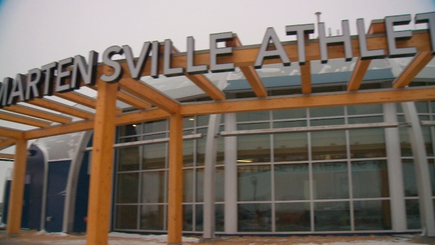 The Martensville Athletic Pavilion was constructed as part of a joint-use project at the city's high school.