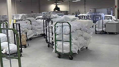 Their jobs have been shipped to Alberta after the Saskatoon Health Region decided to send hospital linen to a private for-profit company in Calgary.