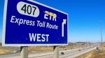 Highway 407 entrance sign