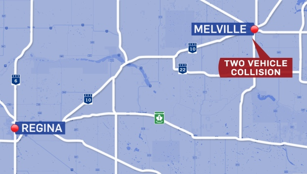 A woman is dead after the ATV she was driving collided with a van on Highway 10 near Melville on Saturday.