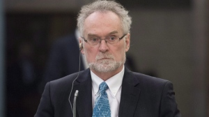 Auditor General Michael Ferguson waits to appear at the Commons public accounts committee in Ottawa, Monday, March 23, 2015. (Adrian Wyld / THE CANADIAN PRESS)