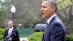 President Barack Obama speaks in the Rose Garden of the White House in Washington April 18, 2014. (AP / Jacquelyn Martin)
