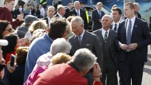 Prince Charles meets members of the public at Mullaghmore, Republic of Ireland, Wednesday, May 20, 2015. (AP / Peter Morrison)