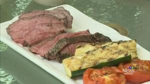 Beef tri-tip with horseradish-dijon sauce