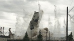 CTV Saskatoon: Crowd watches historic mill implode