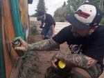CTV Saskatoon: Local artist paints garage mural