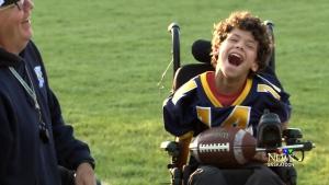 Logan's touching touchdown
