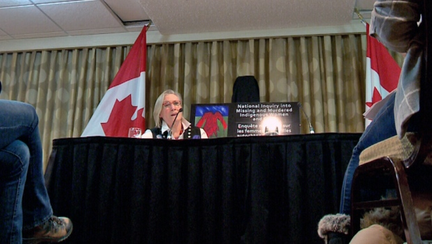 Indigenous and Northern Affairs Minister Carolyn Bennett speaks in Saskatoon on Wednesday, Feb. 10, 2016.