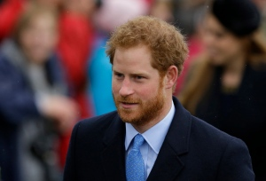 Prince Harry arrives to attend the family traditional Christmas Day church service, at St. Mary Magdalene Church in Sandringham, England on Friday, Dec. 25, 2015. (AP / Matt Dunham)