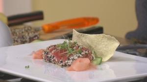 Wheatland Cafe: Sesame-crusted seared ahi tuna