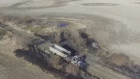 Aaron Suek - drone video of semi fire