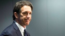Toronto Maple Leafs president Brendan Shanahan speaks to the media after winning the first selection of the 2016 NHL draft lottery in Toronto on Saturday April 30, 2016 (Chris Young / THE CANADIAN PRESS)