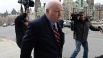 Sen. Mike Duffy returns to Parliament Hill in Ottawa on Monday, May 2, 2016. (Sean Kilpatrick / THE CANADIAN PRESS)