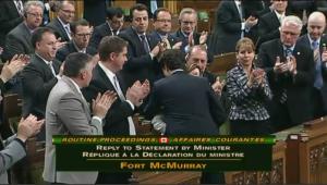 Trudeau hugs Ambrose