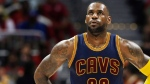 Cleveland Cavaliers forward LeBron James (23) walks on the court in the first half of Game 4 of the second-round NBA basketball playoff series against the Atlanta Hawks, Sunday, May 8, 2016, in Atlanta (John Bazemore / THE CANADIAN PRESS / AP)