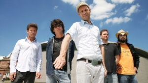 Members of The Tragically Hip (left to right) Gord Sinclair, Paul Langlois, Gord Downie, Johnny Fay and Rob Baker are shown in a recent handout photo. (The Canadian Press/HO-Clemens Rikken)