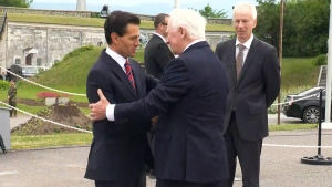 President Nieto arrives in Quebec