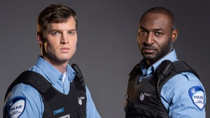 Actors Jared Keeso and Adrian Holmes are shown in a promotional photo for the TV series '19-2.' (Bell Media / Jan Thijs / THE CANADIAN PRESS)
