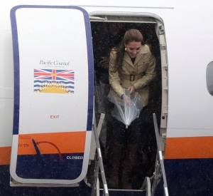 The Duchess of Cambridge arrives in Bella Bella, B.C., Monday, Sept. 26, 2016 as their royal visit to Canada continues. (THE CANADIAN PRESS / Jonathan Hayward)