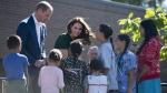 The Duke and Duchess of Cambridge greet children at the University of British Columbia campus in Kelowna, B.C., Tuesday, Sept 27, 2016. THE CANADIAN PRESS/Jonathan Hayward