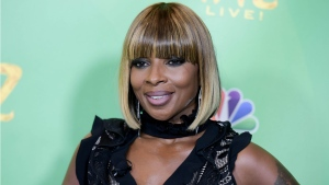 """In this June 1, 2016 file photo, Mary J. Blige attends """"The Wiz Live!"""" Photo Op held at the Directors Guild of America in Los Angeles. A pair of clips teasing Blige's interview with Hillary Clinton on her upcoming Apple Music show """"The 411"""" isn't winning over social media users. (Richard Shotwell/AP)"""