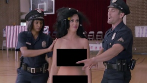 Katy Perry in an image from video. (YouTube / Funny or Die)
