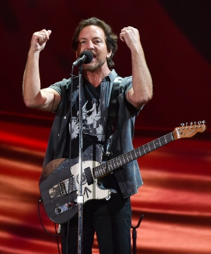 Musician Eddie Vedder performs at the 2016 Global Citizen Festival in Central Park on Saturday, Sept. 24, 2016, in New York. (Photo by Evan Agostini/Invision/AP)