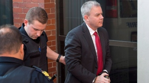 Dennis Oland arrives at the Court of Appeal in Fredericton on Monday, Oct. 24, 2016. Dennis Oland's conviction for the second-degree murder of his father has been overturned and a new trial has been ordered. (THE CANADIAN PRESS/Andrew Vaughan)