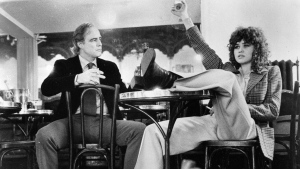 "In this 1972 file photo originally released by United Artists, actors Marlon Brando, left, and Maria Schneider are shown in a scene from, ""Last Tango in Paris."" (AP Photo/United Artists)"