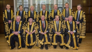 The Justices of the Supreme Court of the U.K. (Supreme Court via AP)