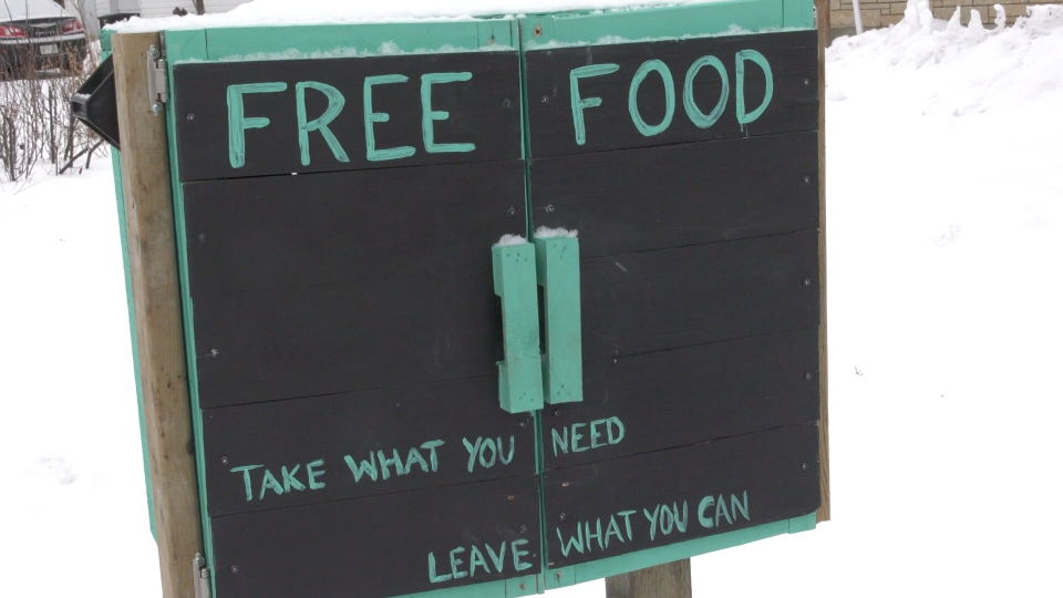 Dudiak food donation box in Saskatoon