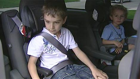 Using a booster seat helps keep your kids safe when you're on the road.